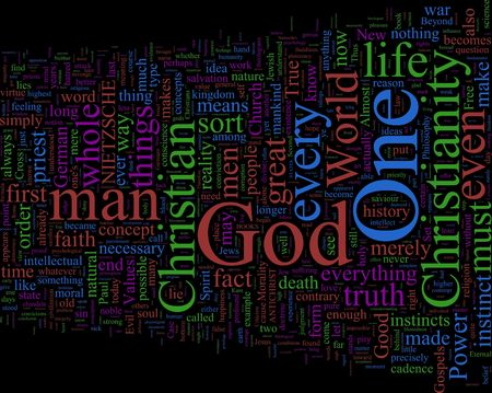 A word cloud based on Nietzsches Antichrist