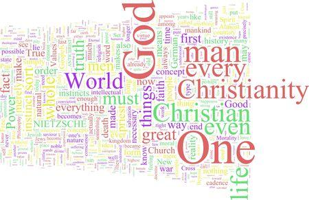 antichrist: A word cloud based on Nietzsches Antichrist