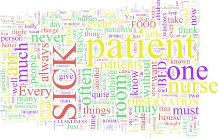 A word cloud based on Florence Nightingales writings