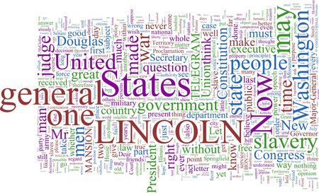 abraham lincoln: A word cloud based on Abraham Lincolns writings