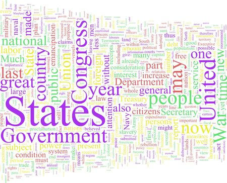 A word cloud based on Abraham Lincoln
