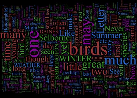gilbert: A word cloud based on Gilbert Whites Natural History of Selborne