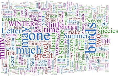 gilbert: A word cloud based on Gilbert Whites Natural History of Selbourne Stock Photo