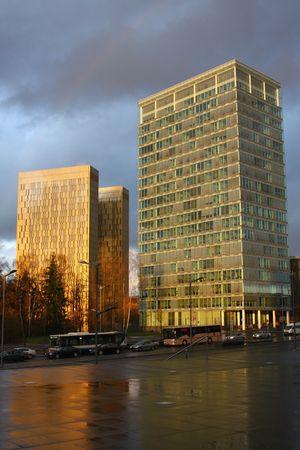 Skyscrapers in Luxembourgs European quarter