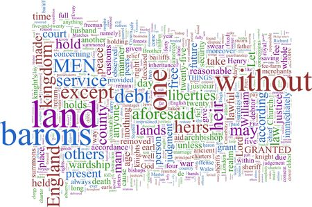 A word cloud based on Magna Carta photo
