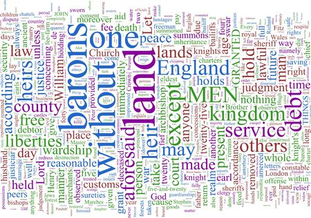 constitutional law: A word cloud based on Magna Carta
