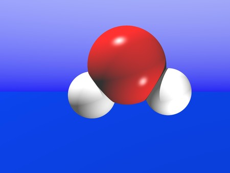 Computer Generated Image Resembling a Water Molecule