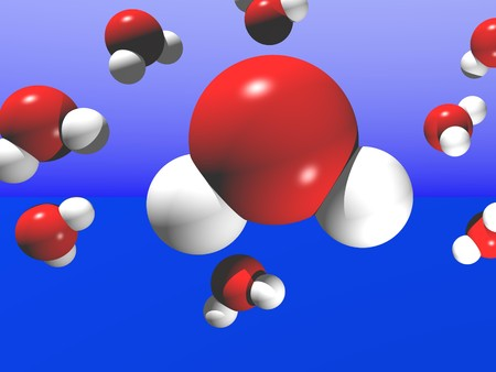 Computer Generated Image Resembling a Water Molecules Stock Photo