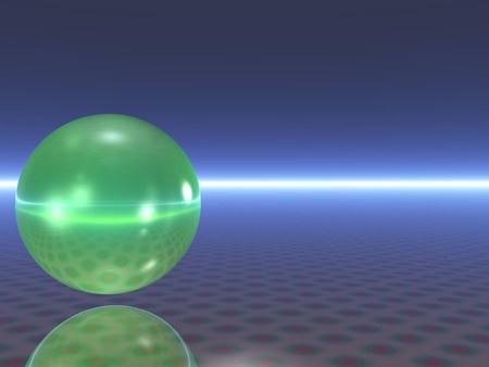 cgi: Abstract light reflecting sphere (CGI)