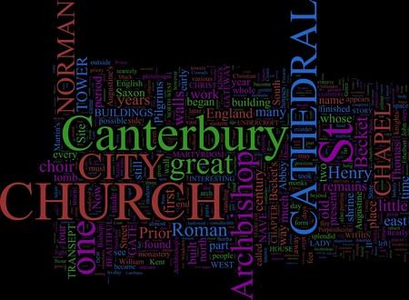 canterbury: Word Cloud bas� � Canterbury, UK