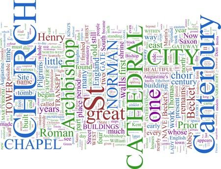 Word Cloud based Around Canterbury, UK photo