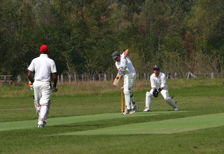 Amateur Cricket Game, Played in Walferdange (Luxembourg) on 030910