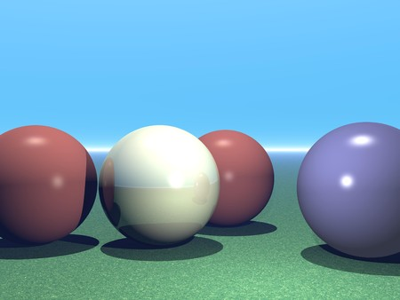 snooker balls: Abstract Computer Generated Image of Snooker Balls