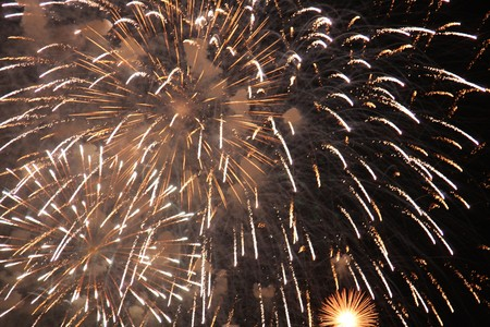 Celebrations - Colourful Fireworks Lighting up the Night Sky photo