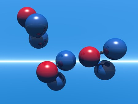 Computer Generated Image of Generic Molecules photo