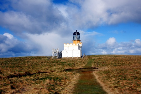 Lighthouse on Brough of Birsay, Orkney, UK
