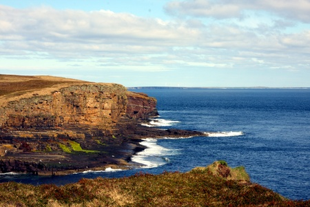 Cliffs on Orkney, UK photo