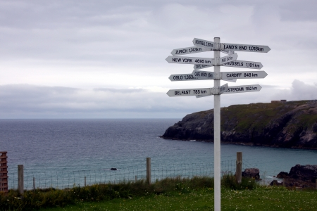 Signpost on the Northern Scottish Coast
