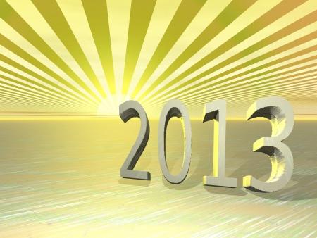 Happy New Year - 2013 Stock Photo