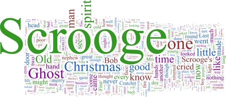 Word Cloud based on Charles Dickens Stock Photo