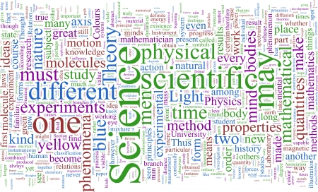 electromagnetism: Word Cloud based on James Maxwell Clerk Stock Photo