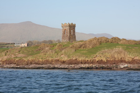 dingle peninsula: The Watchtower at the Entrance to Dingle Harbour, Dingle Peninsula, Ireland Stock Photo