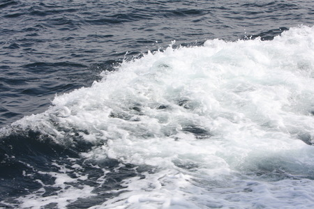 Abstract - White Spray on Dark Blue Waves