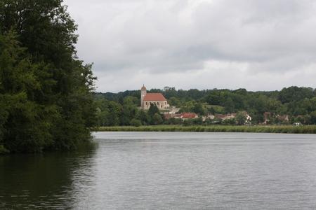 Along the Saone river, France Stock Photo