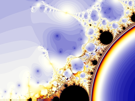 Computer Generated Image - Mathematical Fractal Structure - Colourful Pattern