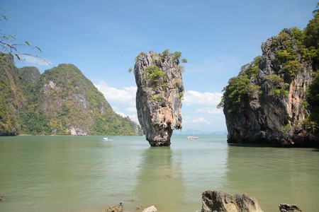 Detail of Thailand Island in the Phuket Province, Summer  photo