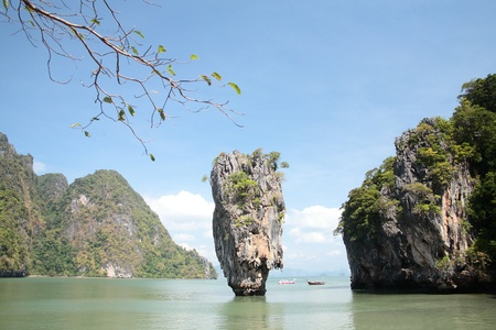 phangnga: Phang-nga bay in thailand it most popula destination to visit .