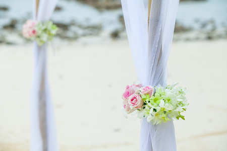 lovely couple: Wedding set up on the beach