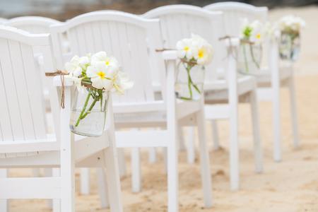 결혼식 의자 설정 스톡 콘텐츠