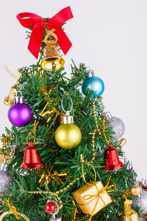 christmas decoration on a white paper background photo