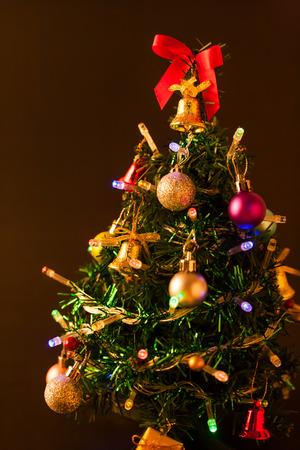 seasonal light display: Christmas lights background Stock Photo