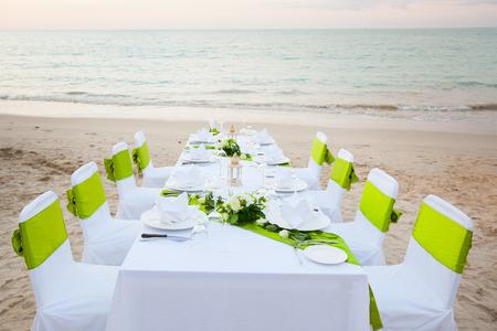 Long dinner table