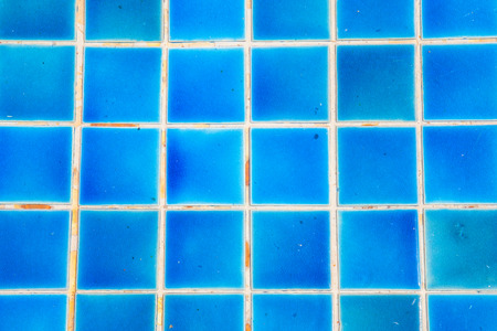 Wall and floor mosaic tiles texture background or swimming pool tiles on wall photo