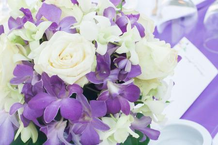 to arrange: flowers bouquet arrange for decoration in wedding ceremony