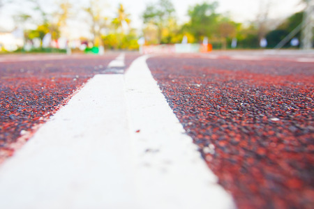 Running track (Running track rubber with line ) photo