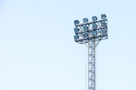 halogen lighting: The light of stadium in Thailand.