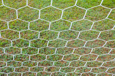 abstract soccer goal net pattern photo