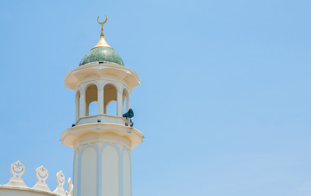 devotional: Side view of mosque in southern Thailand. Stock Photo