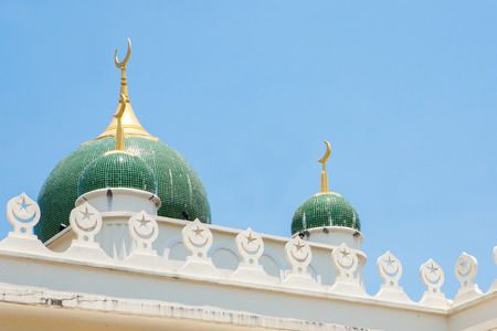 southern of thailand: Side view of mosque in southern Thailand. Stock Photo