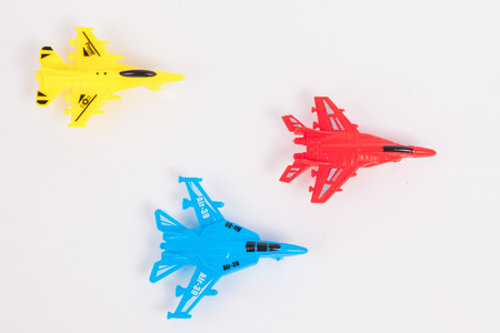 toy plane: Toy Plane on White paper