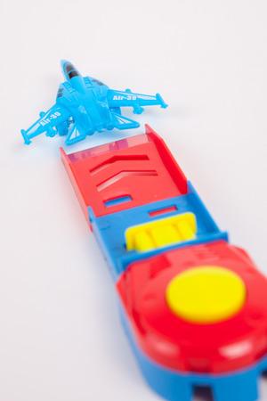 toy plane: Toy Plane on White paper Background