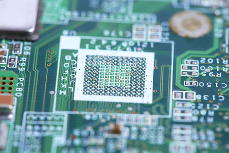 chipset: Closeup of computer micro circuit board