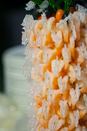 shrimp cocktail: Shrimp Cocktail set up for wedding dinner party.