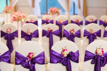 ceremonial clothing: Wedding hall and chairs setup