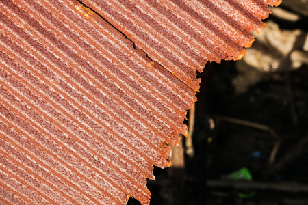 Rusty old corrugated iron or galvanized iron background