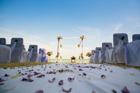 destination wedding: Outdoor wedding aisle at a destination wedding